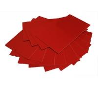 Лист G10 красный, 250*130*0,4