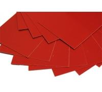 Лист G10 красный, 250*130*1,0