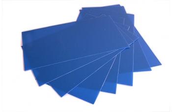 Лист G10 голубой, 250*130*0,4
