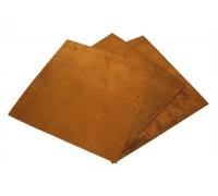 Латунь Л63 пластина (195*195) толщиной 0,5мм