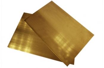 Латунь Л63 пластина (195*150) толщиной 1мм