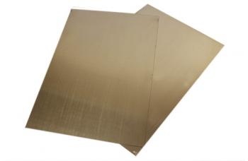 Мельхиор пластина (300*200) толщиной 1мм